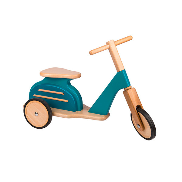 Scooter retro azul Moulin Roty
