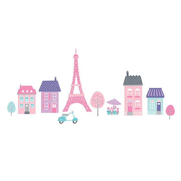Pegatinas pared infantil I love Paris