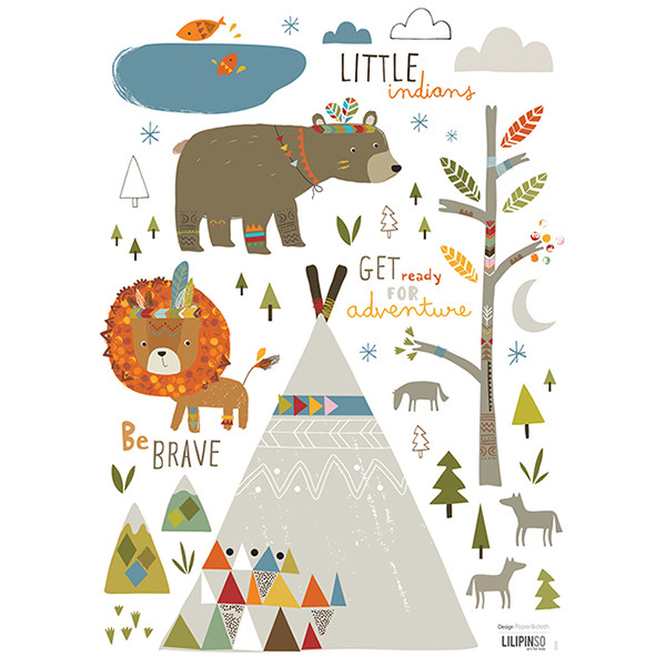 Pegatinas pared infantil Little Indians