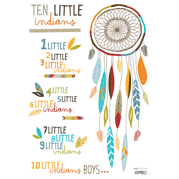Pegatinas pared infantil Ten Little Indians