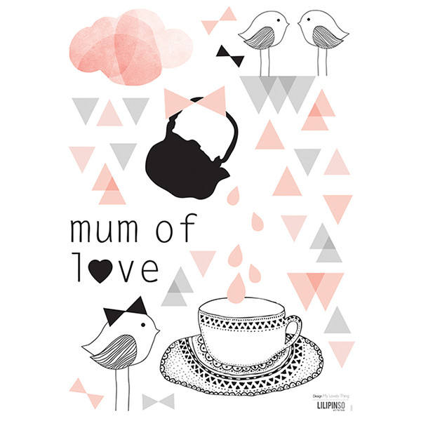 Pegatinas pared infantil Mum of love