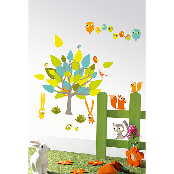 Pegatinas pared infantil Leo & Co