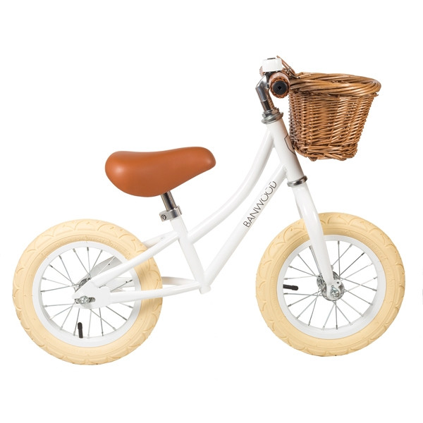 Bicicleta sin pedales First Go - Banwood blanca