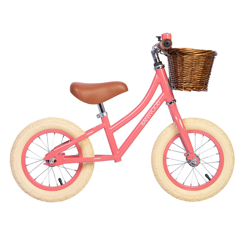 Bicicleta sin pedales First Go - Banwood coral