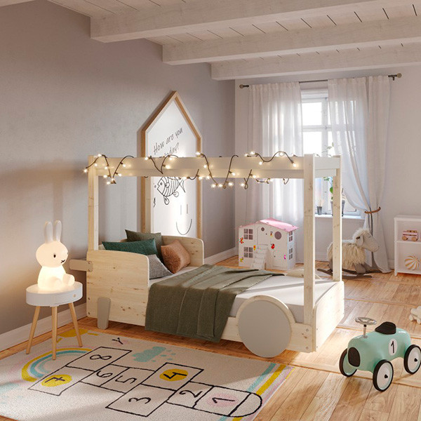 Litera infantil con dosel Discovery gris