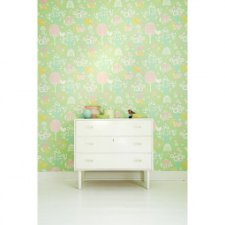 Papel pintado infantil Cherry Valley verde