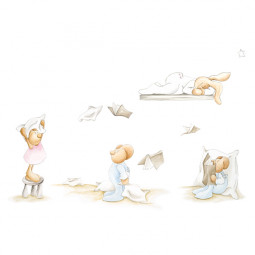 Mural papel pintado infantil Flying Books