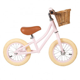 Bicicleta sin pedales First Go - Banwood rosa