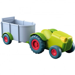 Tractor con remolque Little Friends Haba