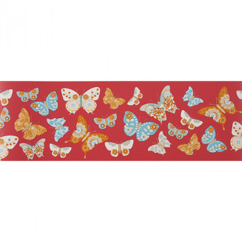 Cenefa papel pintado infantil Mariposas Girls only