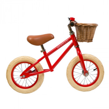 Bicicleta sin pedales First Go - Banwood roja