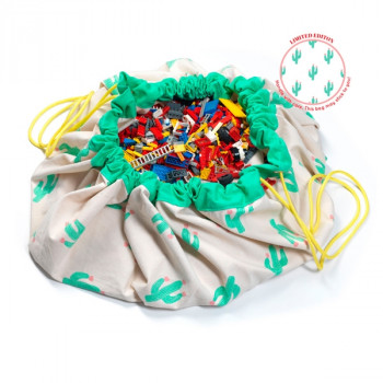 Bolsa para guardar juguetes Play and Go Cactus