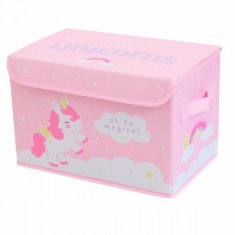 Caja para guardar juguetes Unicornio A Little Lovely Company