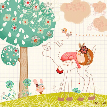 Cuadro infantil Bambi Lilipinso