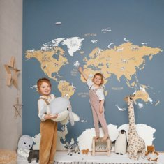Mural infantil World Map