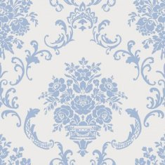 Papel pintado infantil Caselio Ashley Ornement floral azul