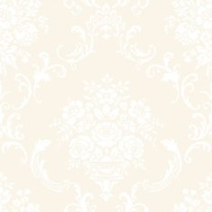 Papel pintado infantil Caselio Ashley Ornement floral blanca