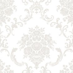 Papel pintado infantil Caselio Ashley Ornement floral beige