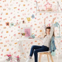 Papel pintado infantil Pins Me Girl Power Caselio