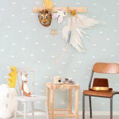 Papel pintado infantil Dreamy Clouds dusty blue