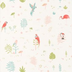 Papel pintado infantil Pajaritos tropical Happy Dreams