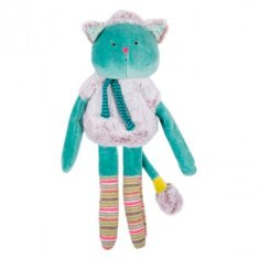 Peluche Doudou Moulin Roty Gatito azul Les Pachats