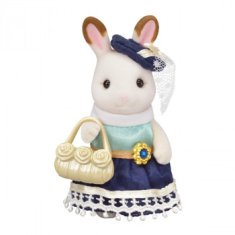 Sylvanian Families Town Series Niña Hermana Mayor Conejo Chocolate