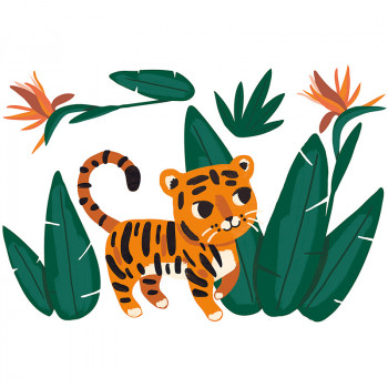 Vinilo infantil XL Jungle & Tiger